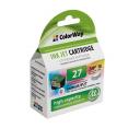 Картридж струйный совместимый с Lexmark №27, ColorWay