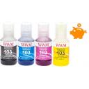 Комплект чернил WWM 103 для Epson L1110, L3100, L3101, L3110, L3150, L3151 140г х 4 (E103SET4)