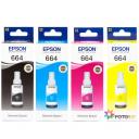 Комплект чорнил Epson L100, L110, L120, L200, L210, L222, L300, L312, L350, L355, L362, L366, L456, 4x70мл оригінал