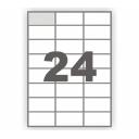 Самоклеющаяся бумага А4 разделенная на 24 этикетки,  70х37,1мм, 100 листов (BM.2840)