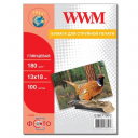 Фотобумага WWM, глянцевая 180g, m2, 130х180 мм, 100л (G180.P100, C) без политурки
