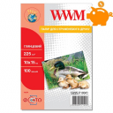 Фотопапір WWM, глянцевий 225g, m2, 100х150 мм, 100л (G225.F100) без політурки