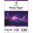 Глянцевая фотобумага 13x18, 230г, 100 листов, Galaxy (GAL-5RHG230-100)