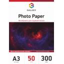 Матовая двухсторонняя фотобумага А3, 300г/м2, 50 листов, Galaxy (GAL-A3DMC300-50)