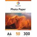 Глянцевая двухсторонняя фотобумага А4, 300г/м2, 50 листов, Galaxy (GAL-A4DHG300-50)
