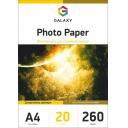 Фотобумага суперглянцевая Galaxy A4 260g, 20 листов (GAL-A4PPH260-20)