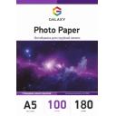 Глянцевая фотобумага А5, 180г, 100 листов, Galaxy (GAL-A5HG180-100)