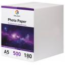 Глянцевая фотобумага А5, 180г, 500 листов, Galaxy (GAL-A5HG180-500)