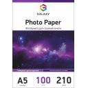Глянцевий фотопапір А5, 210г, 100 аркушів, Galaxy