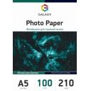 Матовая фотобумага А5, 210г, 100 листов, Galaxy (GAL-A5MC210-100)