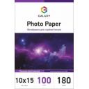 Глянцевий фотопапір 10x15, 180г, 100 аркушів, Galaxy (GAL-A6HG180-100)