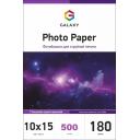 Глянцевий фотопапір 10x15, 180г, 500 аркушів, Galaxy (GAL-A6HG180-100)