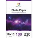 Глянцевая фотобумага 10x15, 230г, 100 листов, Galaxy (GAL-A6HG230-100)
