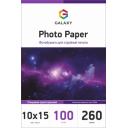 Глянцевая фотобумага 10x15, 260г, 100 листов, Galaxy (GAL-A6HG260-100)