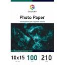 Матовая фотобумага 10х15, 210г, 100 листов, Galaxy (GAL-A6MC210-100)