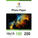 Глянцевая фотобумага 10x15, 200г, 100 листов, Ultra Galaxy (GAL-A6UHG200-100)