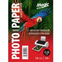 Фотобумага глянцевая 13x18, Magic 200g, 100 листов