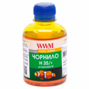 Чернила WWM H35 для HP, Yellow Водорастворимые (H35/Y) для СНПЧ