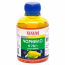Чернила wwm HP178, HP655 (Yellow) H78/Y, 200г