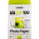 Фотобумага Videx глянцевая 10х15 220г/п, 100л (без обложки)