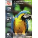 Фотобумага глянцевая А4 Lucky Print 230g, 50 листов
