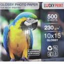 Фотобумага глянцевая 10х15 Lucky Print 230g, 100 листов