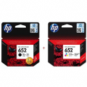 Картриджі струменеві HP 652 комплект Black (F6V25AE), Color (F6V24AE)