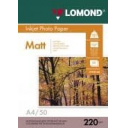 Фотопапір Lomond матовий 220 г/м, двосторонній А4,  50лис. Код 0102144