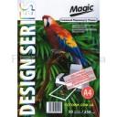 Дизайнерская фотобумага Мagic А4, двухсторонняя Снежный  Перламутр ( ткань)  250 г /м²,50л