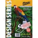 Дизайнерская фотобумага Мagic А4, двухсторонняя Желтый  Перламутр ( ткань)  250 г /м²,50л