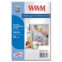 Фотобумага WWM, матовая Magnetic, 100х150 мм, 20л (M.MAG.F20)