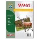 Фотобумага WWM, шелковисто глянцевая 260g, m2, A4, 100л (SG260.A4.100)