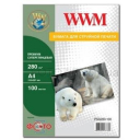 Фотобумага WWM, премиум суперглянцевая, 280g, m2, А4, 100л (PSG280.100)