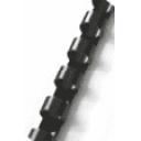 Пружина пластиковая Ф8, цвет черный
