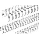 Пружина металева срібна d.6,4 - 34 петлі, 100шт