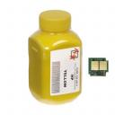 Тонер + чіп HP CLJ CP1215 Yellow (АНК, 1500160)